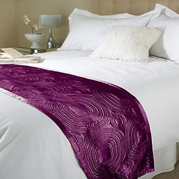 chemin de lit en satin en relief en violetcouvre lit fin de - Couvre Lit Violet