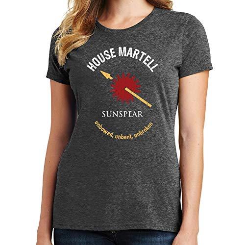 Bluejack Clothing House Martell Women's T-Shirt (2X-Large,Heather Dark Gray) (Game Of Thrones Sezonul 2 Episodul 7)