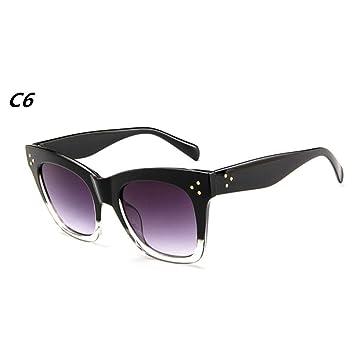 CCGSDJ Rectángulo De Lujo Gafas De Sol De Las Mujeres De ...