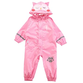 183587265 Amazon.com  Rain Suit- Children s Hooded One-Piece Breathable Poncho ...
