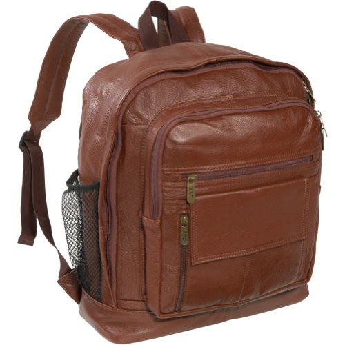 AmeriLeather Traditional Leather Backpack (Brown), Bags Central