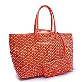 Agote Women Fashion Shipping Shoulder Tote Bag Set (ORANGE.)