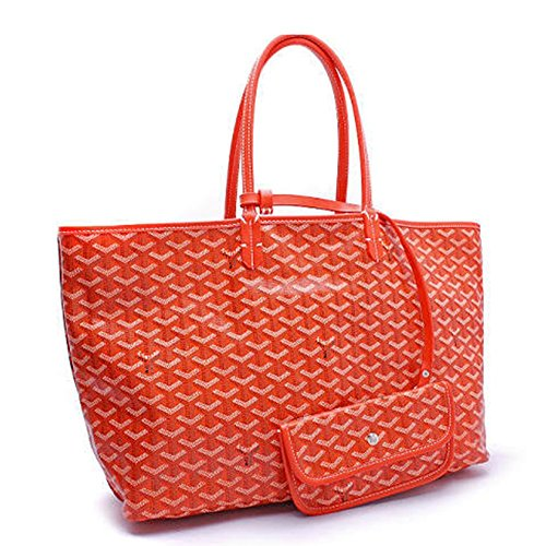 Agote Women Fashion Shipping Shoulder Tote Bag Set (ORANGE.) by Agote (Image #4)