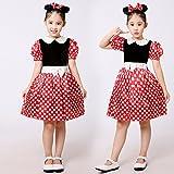 ミニー コスチューム 子供 コスプレ ハロウィン 衣装 90~130cm (100)