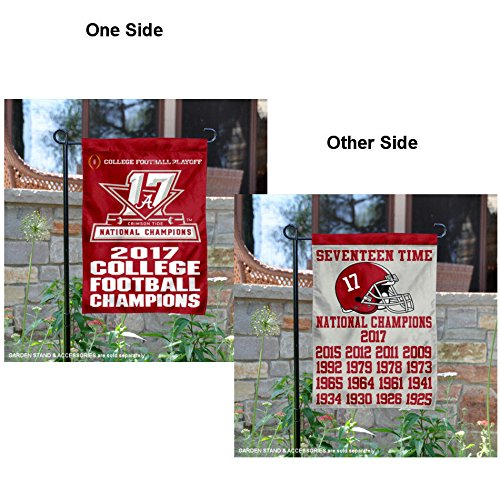 College Flags and Banners Co. Alabama Crimson Tide 17 Time CFP Football Champions Garden Flag