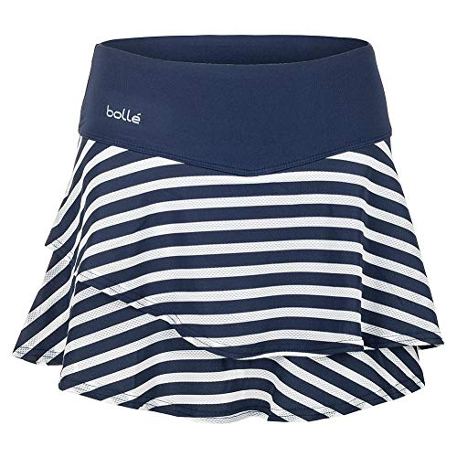 - Bollé Women's Printed Tennis Skirt With Shorts Inside, Navy, Medium