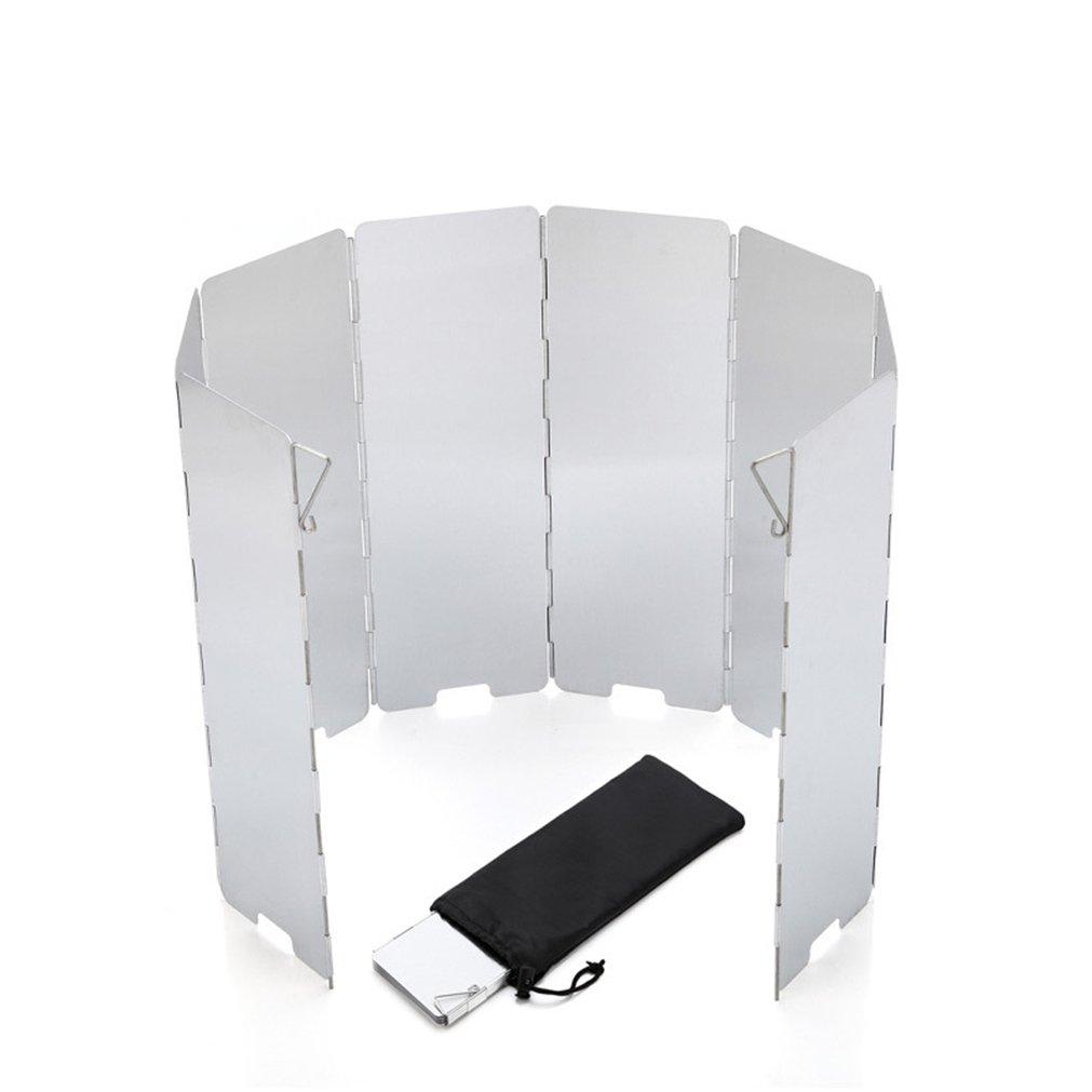 BrilliantDay 9 Stücke Outdoor-Aluminium-Windschutz für Alle Arten von Feuerstellen BBQ Windschutzscheibe