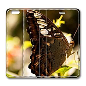 iPhone 6 Plus Case, Fashion Customized Protective PU Leather Flip Case Cover Dark Butterfly Macro for New Apple iPhone 6(5.5 inch) Plus