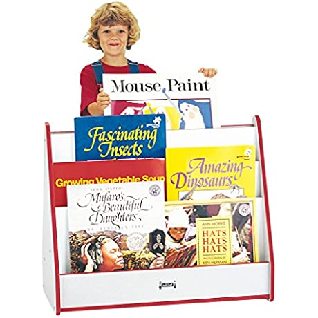 Rainbow Accents 3502JCWW008 Big Book Pick A Book Stand Red
