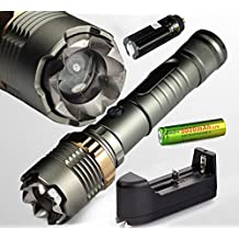 Tactical Police Cree Xml T6 5000lm Led Zoomable Flashlight White 18650 Battery Charger Ultrafire Focus Enhanced Self-Defense Convenience Carry Brand New