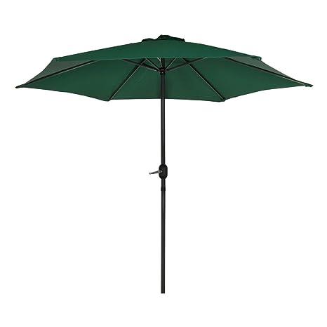 Aktive Garden 53871 - Parasol Hexagonal Diámetro 270 cm, Mástilil Aluminio 38 mm, Color Verde: Amazon.es: Jardín