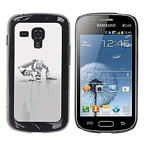 Be Good Phone Accessory // Dura Cáscara cubierta Protectora Caso Carcasa Funda de Protección para Samsung Galaxy S Duos S7562 // White Robot