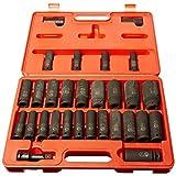 ATD 4901 1/2-Inch Drive Deep SAE and Metric Impact Socket Set, 29-Piece