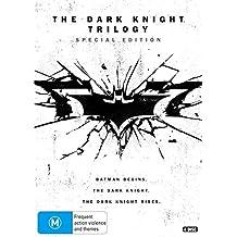 Batman Begins / Dark Knight / Dark Knight Rises | 4 Discs | Christopher Nolan's | NON-USA Format | PAL | Region 4 Import - Australia