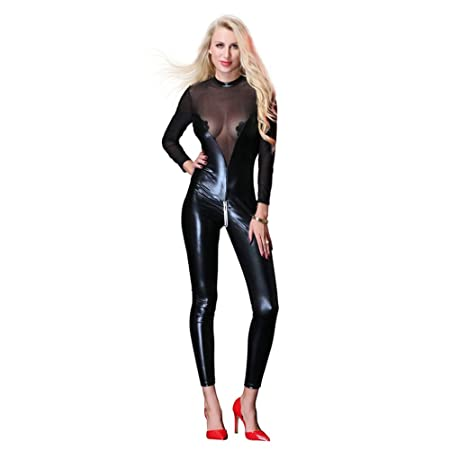 HGUIAZ Catsuit para Mujer Disfraz De Catwoman De Partido De ...