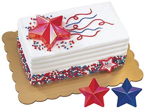 (Patriotic - Iridescent Star Layon Decorations - Set of 2)