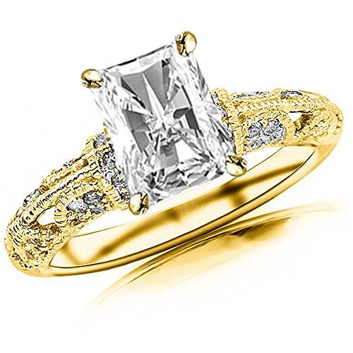 0.82 Ct Radiant Diamond - 2