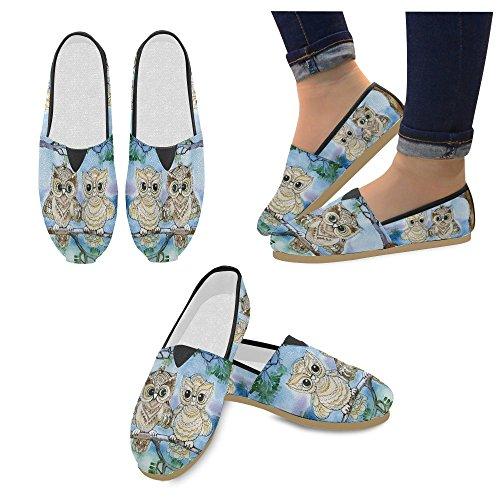 D-story Mode Sneakers Lägenheter Kvinna Klassisk Slip-on Tygskor Loafers Multi10