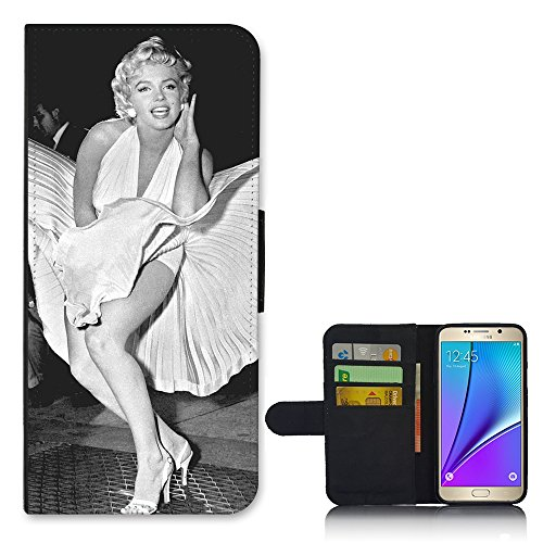 Dress Wallet Galaxy Samsung Cover Note For Flip 5 Marylin 7XZWw