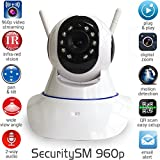 SecuritySM - 960p WIRELESS SECURITY CAMERA - IP camera, plug and play, pan/tilt 2-way audio Night vision Motion detection MicroSD 32G internet security camera