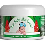 Organic Our Baby Aloe Eczema & Psoriasis Cream, Body & Face Cream, Lotion for Sensitive Skin, Natural Healing Power of Shea Butter, Jojoba, MSM, Apricot, Vitamins, Essential Oils & Amino Acids. #1 Satisfaction Guarantee, Instant Itch Relief.