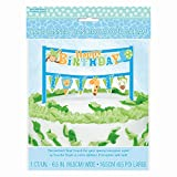 Blue Safari First Birthday Cake Bunting Topper