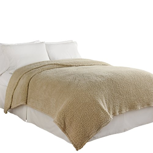 Beautyrest Cosette Ultra Soft Blanket, Full/Queen, Cream