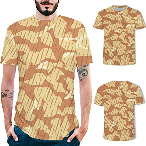 Allywit-Mens Shirts Casual Summer Camouflage Slim Fit Tee Shirt Short Sleeve Muscle T-Shirt Classic T Shirts Tshirts by Allywit-Mens (Image #1)