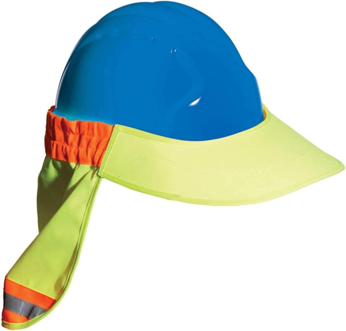 EZ-Cool 396-800-YEL Hi-Vis Hard Hat Neck Sun Shade With Visor Large Fоur Расk Yellow