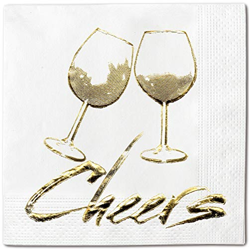 Cheers Brush 100-pack Disposable Party Napkins, 5x5