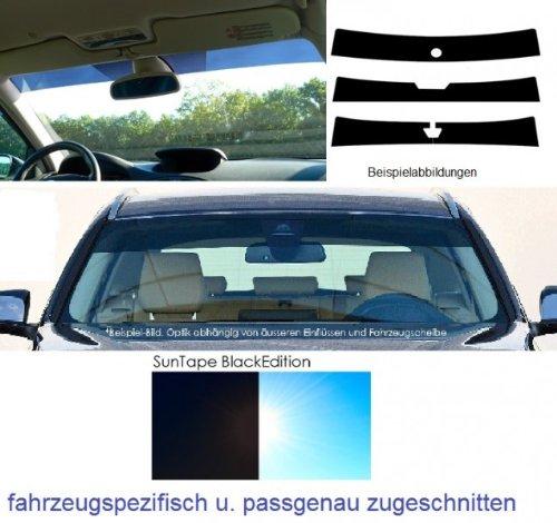 fahrzeugspezifisch MITLA8GSBST Frontblendstreifen inkl Sonnenschutzstreifen Windschutzscheibe passgenau Spiegelfu/ßaussparung
