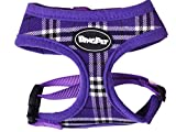 PUPTECK Soft Mesh Dog Harness Pet Puppy Comfort Padded Vest No Pull Harnesses , Purple Extra Small