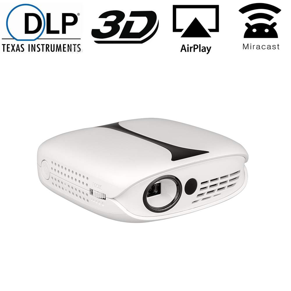 Mini DLP Projector, Gzunelic LCD Portable Video Projector Wireless synchronize to Phone by Airplay or Miracast, Home Theater 1080p Full HD Proyector ...