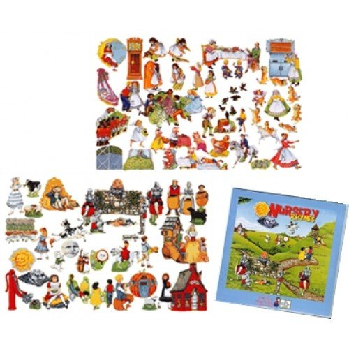 Nursery Rhymes Flannelboard Set - 30+ Nursery Rhymes Felt Figures Set for Flannel Board with Cd- Precut