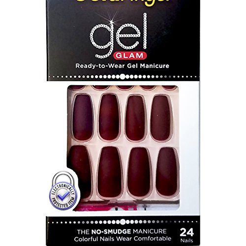 Kiss Gold Finger Gel Glam 24 Nails GFC10 MAUVE -