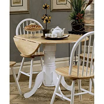 Coaster Home Furnishings 4241 Country Dining Table  Natural and White. Amazon com   Coaster Home Furnishings 4241 Country Dining Table
