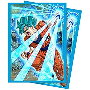 Ultra Pro Official Dragon Ball Super Super Saiyan Blue Son Goku Standard Deck Protector Sleeves (65ct)