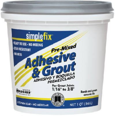 Custom Bldg Products TAGWQT Qt. Bright White Pre-Mixed Adhesive & Grout