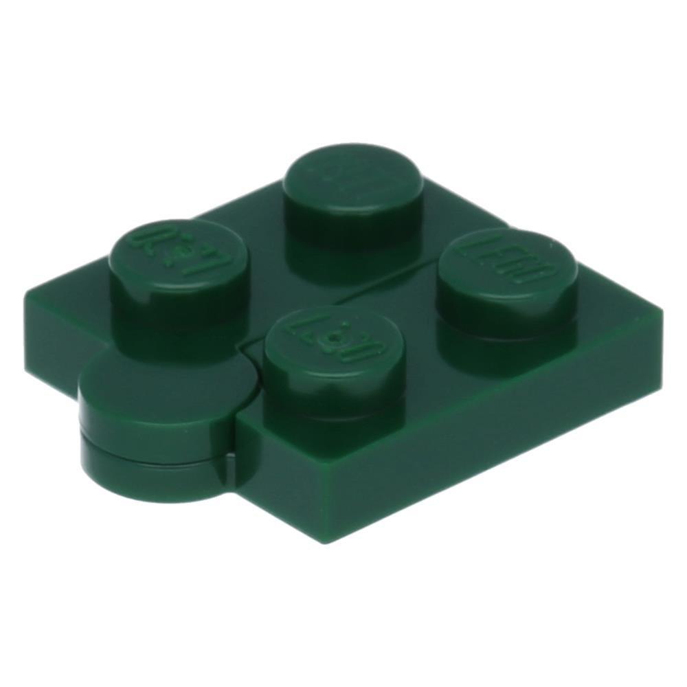 Lot of 4 PLATES Lego BLACK 1x4 Swivel Hinge Plate