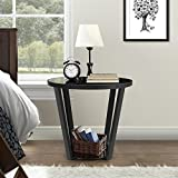 Lifewit Round Storage Side Table Nightstand Couch End Table Snack Coffee Desk, Black