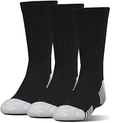 Under Armour Men's Heatgear Tech Crew Socks, Black, X-Large (3 Pair Pack)