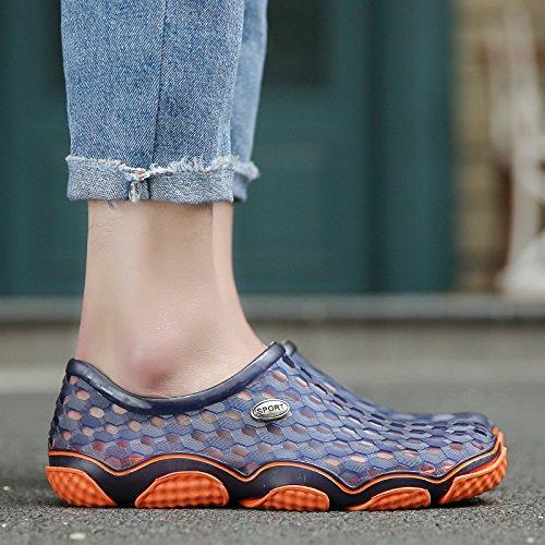 Xing Lin Flip Flop De La Playa Orificio Macho Zapatos De Primavera Y Verano Nuevos Hombres S Hueco Sandalias Informales No - Deslizamiento Juventud Zapatos Sandalias De Playa XS2198 blue (large)