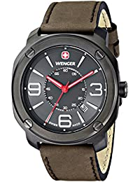 """Men's 01.1051.104 """"Escort"""" Stainless Steel Watch with Brown Leather Band"""