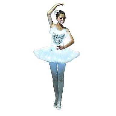 Kinder Weiß Mädchen Ballett Damen Erwachsene Wantschun Kleid Led QxeEdoBWrC