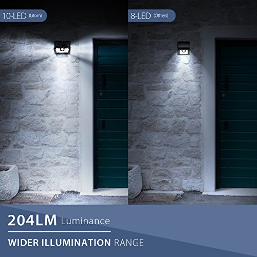 LITOM-SUPER-BRIGHT-Solar-Lights-Outdoor-Wireless-Solar-Motion-Sensor-Lighting-Solar-Powered-LED-Security-Waterproof-Wall-Spotlights-for-Patio-Landscape-Flood-Yard-Pool-Garage-Door4-Pack
