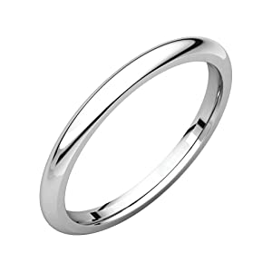 Roy Rose Jewelry Platinum 1.5mm Comfort Fit Wedding Band Ring Sizes 4 to 9