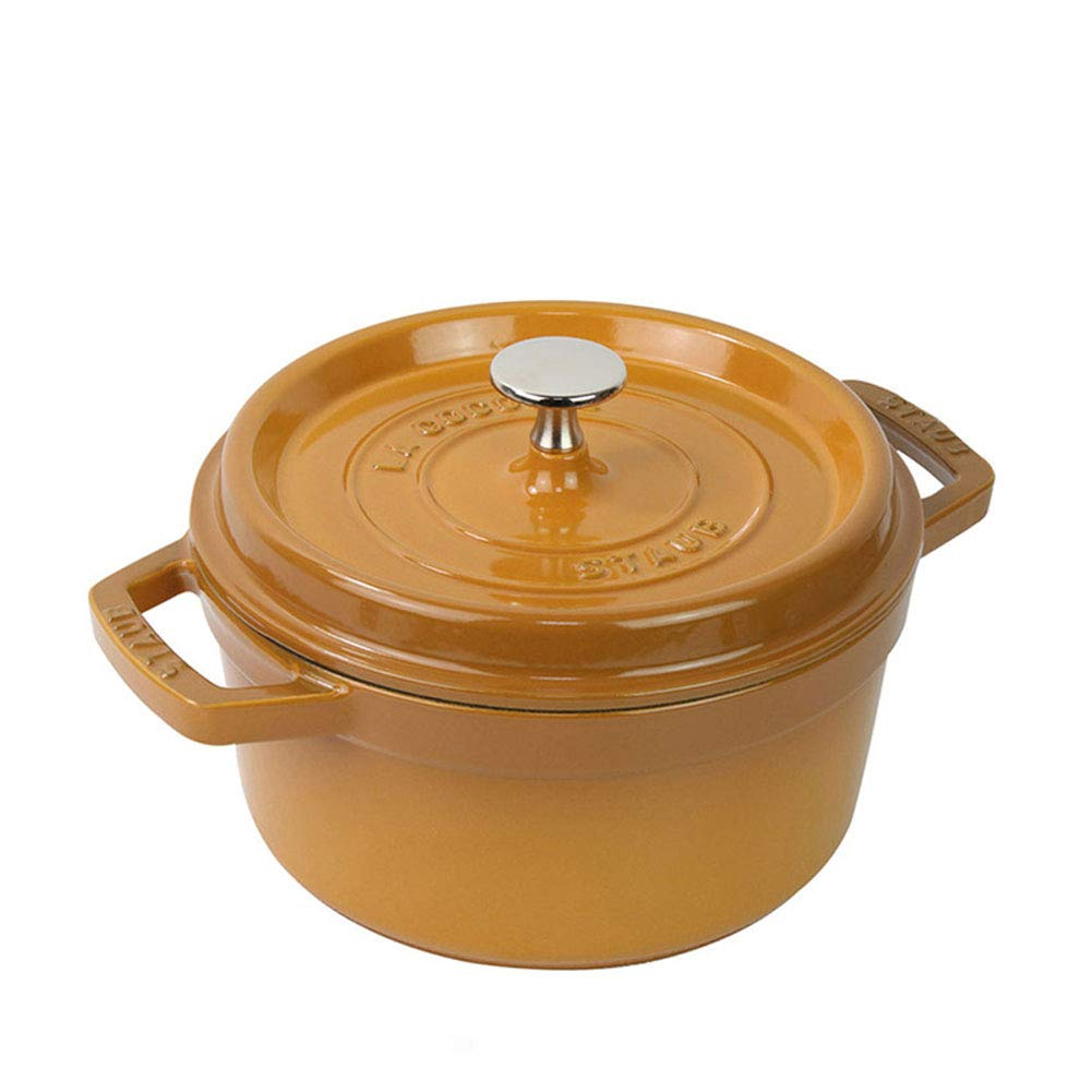 Cookware bottom cast iron,casserole dishes with lids hob to oven non stick Anti-scalding double handle Easy to clean Suitable for 2-3 happy family-yellow