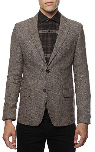 Brown Herringbone Blazer - 42R Zonettie Mens Hardy Brown Herringbone Super Slim Fit Blazer