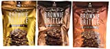 Sheila G's Brownie Brittle 3 Flavor Variety Bundle: (1) Sheila G's Salted Caramel Brownie Brittle, (1) Sheila G's Chocolate Chip Brownie Brittle, and (1) Sheila G's Toffee Crunch Brownie Brittle, 5 Oz. Ea. (3 Bags Total)