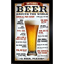 Beer How To Order Around the World Art Poster Print - 24x36